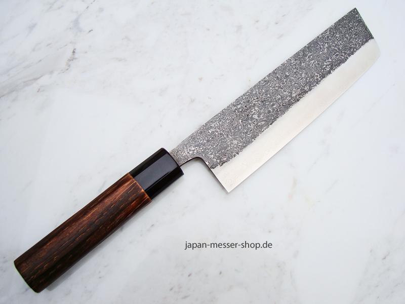 Yoshikane SLD Damast Nakiri, 18 cm, handgeschmiedet und -signiert ...